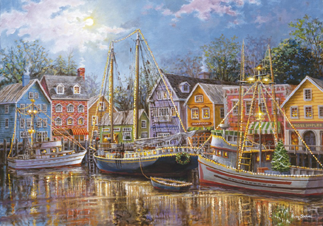 Jigsaw Puzzle - Sailing in the Village (#31995) - 1500 Pieces Clementoni
