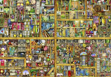 Wooden Jigsaw Puzzle - Shelf Life (#800513) - 500 Pieces