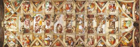 Jigsaw Puzzle - Sistine Chapel Ceiling (#39406) (Panoramic Image) - 1000 Pieces Clementoni