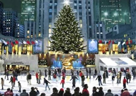 Wooden Jigsaw Puzzle - Skating at Rockefeller Center (812505) - 250 Pieces Wentworth