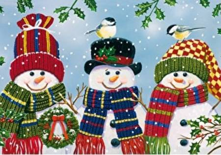 Wooden Jigsaw Puzzle - Snowman Trio (852507) - 250 Pieces