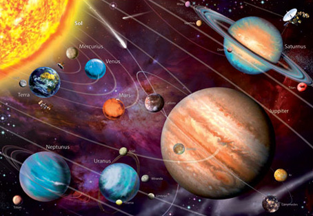 Glow in Dark Jigsaw Puzzle - Solar System - 1000 Pieces Educa