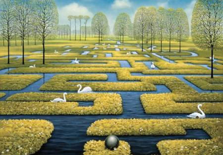 Wooden Jigsaw Puzzle - Spring Labyrinth (#635313) - 250 Pieces Wentworth