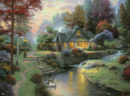 Thomas Kinkade Jigsaw Puzzle - Stillwater Cottage (#3310-59) - 1000 Pieces Ceaco