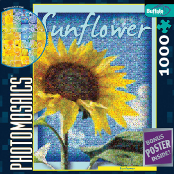 Photomosaic Jigsaw Puzzle - Sunflower - 1000 Pieces Photomosaic