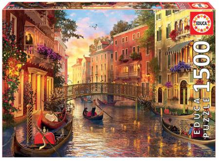 Jigsaw Puzzle - Sunset in Venice (17124) - 1500 Pieces Educa