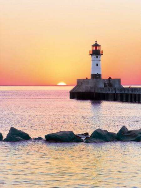 Jigsaw Puzzle - Sunset to the Lighthouse (#35003) - 500 Pieces Clementoni