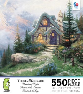 Thomas Kinkade Jigsaw Puzzle - Sweetheart Cottage - 550 Pieces Ceaco