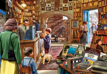 Wooden Jigsaw Puzzle - The Bookshop (#682808) - 250 Pieces
