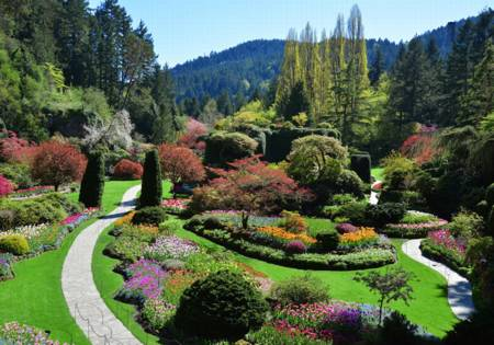 Wooden Jigsaw Puzzle - The Buchart Gardens (#821705) - 500 Pieces