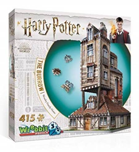 3D Jigsaw Puzzle - The Burrow-Weasley Family Home (W3D-1011) - Wrebbit