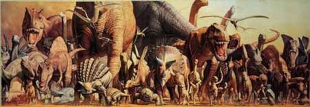 Jigsaw Puzzle - The Dinosaurs (Panoramic) (#2802N25006) - 1000 Ricordi