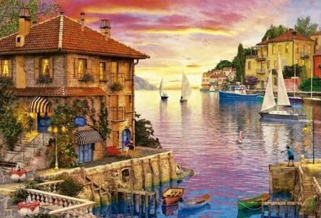 Jigsaw Puzzle - The Mediterranean Harbor (#17135) - 5000 Pieces Educa