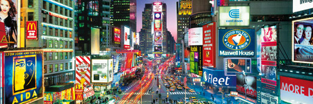Jigsaw Puzzle - Times Square (Panoramic Image) - 1000 Pieces Clementoni