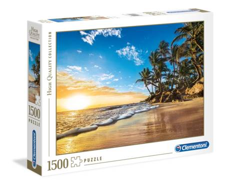 Jigsaw Puzzle - Tropical Sunrise (#31681) - 1500 Pieces Clementoni