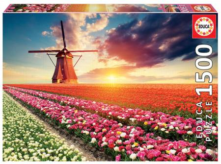 Jigsaw Puzzle - Tulips (18465) - 1500 Pieces Educa
