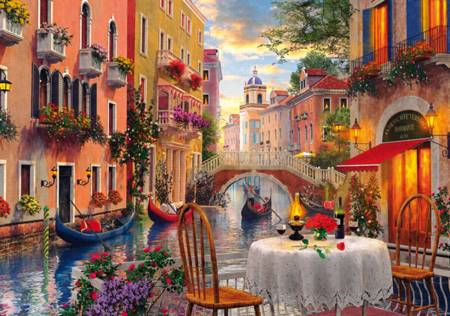 Wooden Jigsaw Puzzle - Venice al Fresco (#672005) - 250 Pieces Wentworth
