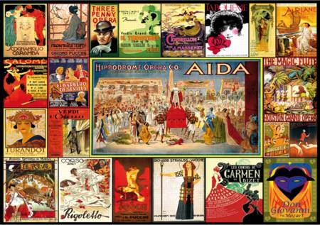 Wooden Jigsaw Puzzle - Vintage Opera Posters (#722113) - 250 Pieces