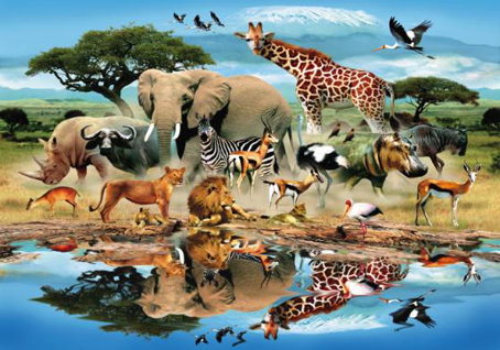 Wooden Jigsaw Puzzle - Watering Hole - 250 Pieces Wentworth