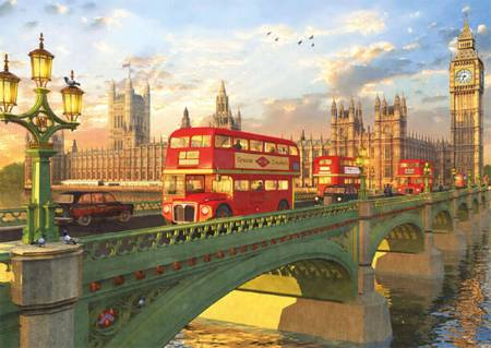 Jigsaw Puzzle - Westminster Bridge (#16777) - 2000 Pieces Educa