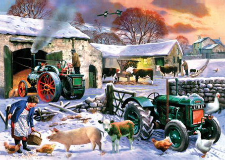 Wooden Jigsaw Puzzle - Winter Farm - 250 Pieces Wentworth