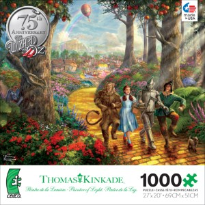 Thomas Kinkade Jigsaw Puzzle - Follow the Yellow Brick Road - 1000 Pieces Ceaco