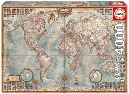 Jigsaw Puzzle - The World Executive Map (14827) - 4000 Pieces Educa