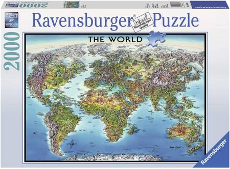 Jigsaw Puzzle - World Map (16683) - 2000 Pieces Ravensburger