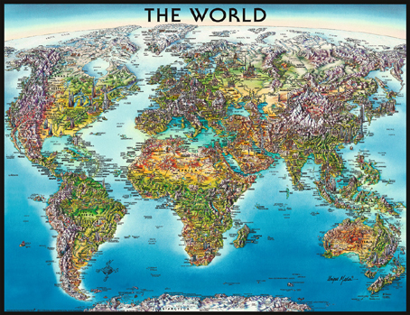 Jigsaw Puzzle - World Map (#16683) - 2000 Pieces Ravensburger