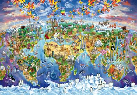 Wooden Jigsaw Puzzle - World Wonders (#702513) - 250 Pieces