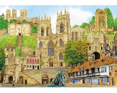 Wooden Jigsaw Puzzle - York Montage (901505) - 1000 Pieces Wentworth