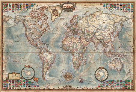 Jigsaw puzzle the world executive map 4000 pieces educa gumiabroncs Gallery