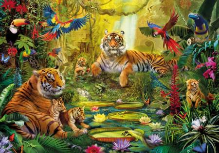 Jigsaw Family Pieces Jungle671606250 In Wooden Tiger The Puzzle UzSMpGLqV